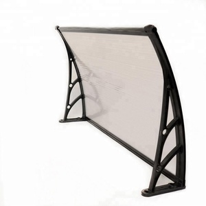Polycarbonate roof awning weights aluminium brackets frame canopy