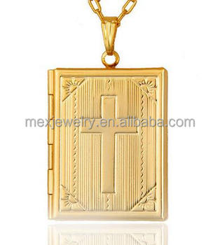 Gold plated mens cross jesus bible book figures photo picture frame gold plated mens cross jesus bible book figures photo picture frame lockets pendants mozeypictures Images