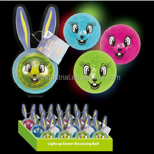 wholesale bulk party supplies unique gift ideas glitter bouncing ball 65mm easter led bouncing ball