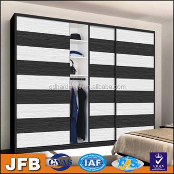 Grace Bedroom Design Top Hanging Aluminum Frame Profile Wardrobe