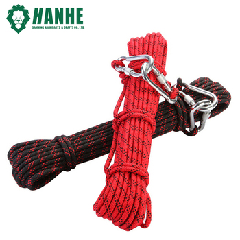 NEW Whole Sale 8mm Safety Auxiliary Rope paracord Outdoor Climbing Protection Rope with Gear Carabiner Fast Shipping