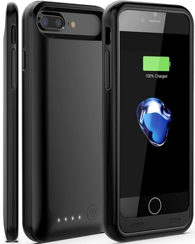 MFi certified Rechargeable 4000mah backup battery case for iPhone 7P I7 plus