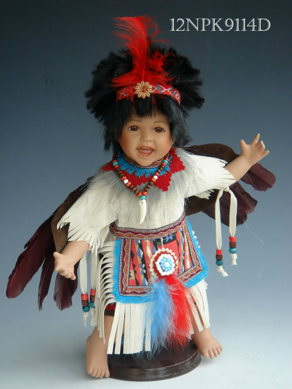 "12"" Indian boy doll in porcelain"
