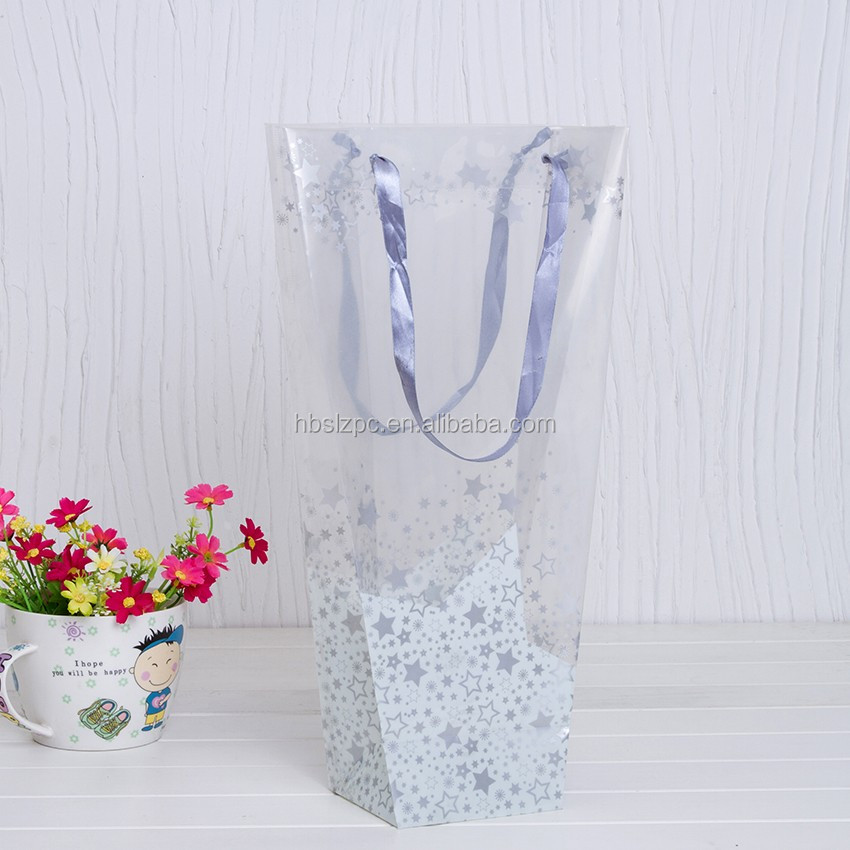 Eco-friendly Recyclable Applique Flower Bags/custom Gift Bags/plant bag