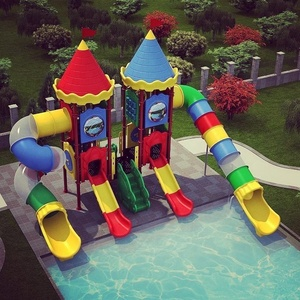 Children plastic playground swimming pool water games for sale