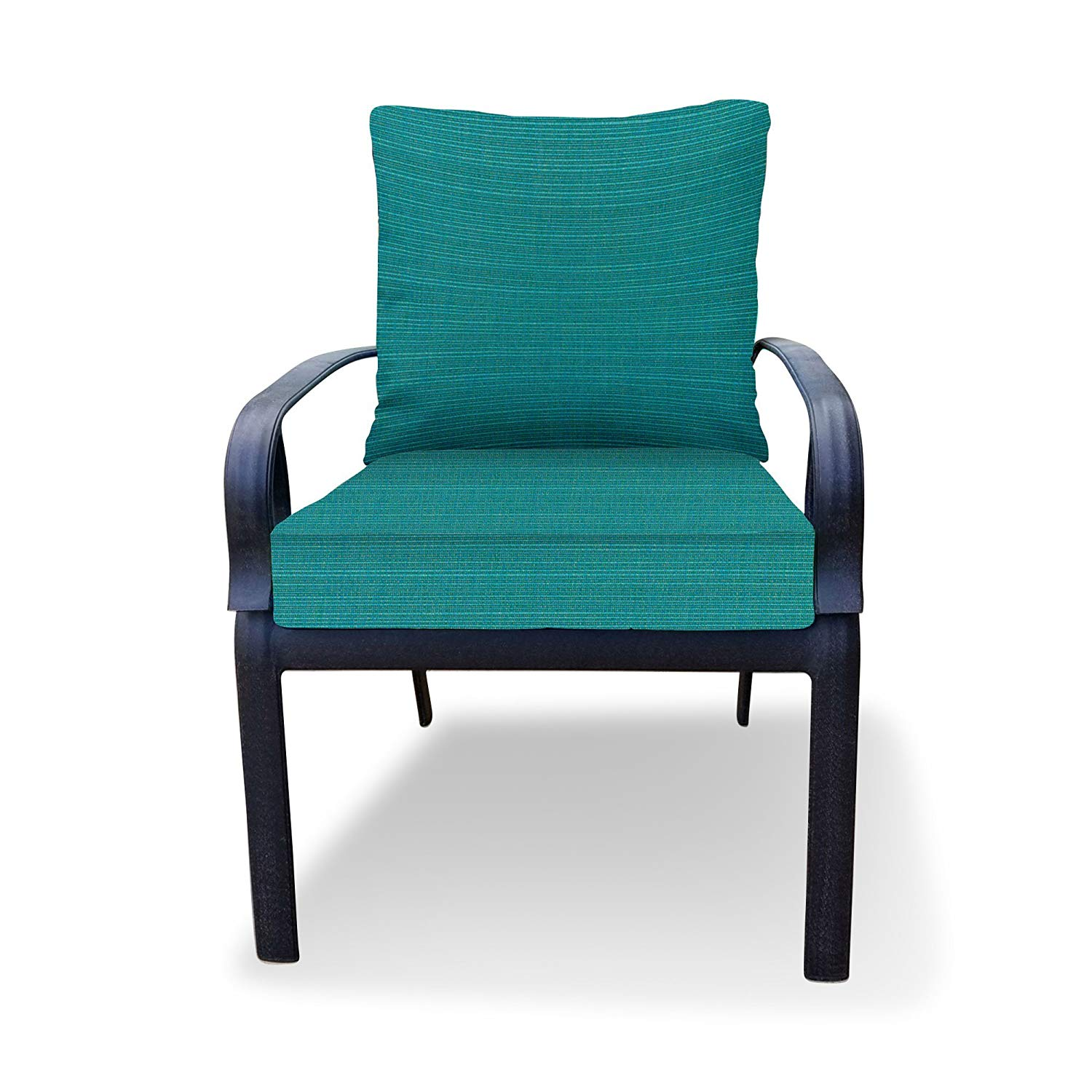 Thomas Collection Outdoor Cushion Set, Blue Outdoor Cushions for Chair, Chaise or Seat Only, Sunbrella Outdoor Cushions Waterproof, Handmade in US, 13152 - Furniture Not Included
