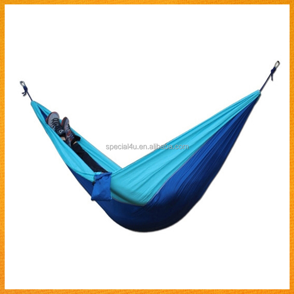 Wholesale Portable Outdoor Travelling Camping Parachute Nylon Hammock with Hammock Straps SPHM-017