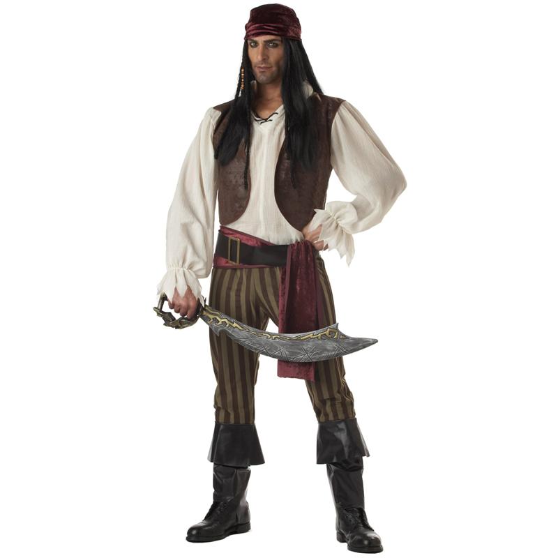 costume mens adult jack captain sparrow