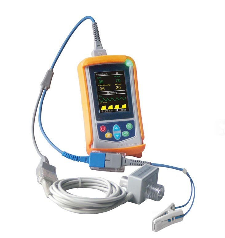 Portable Handheld Etco2/co2/capnograph Monitor With Ce Approved - Buy  Handheld Etco2/co2/capnography Patient Monitor,Portable Ce Co2/etco2