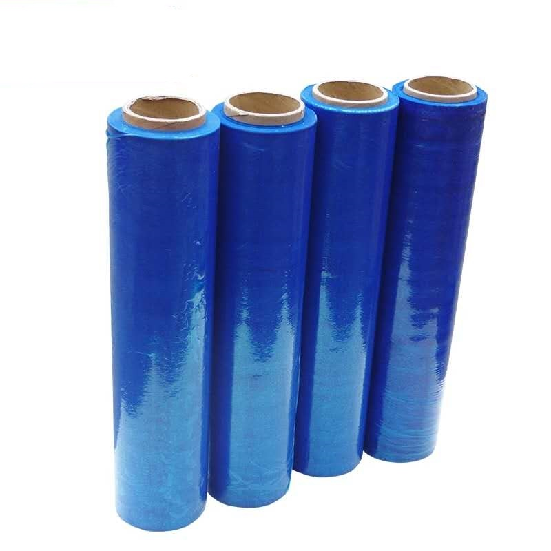 Manufacturer wholesale blue color plastic wrapping ldpe film
