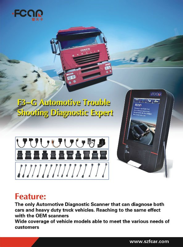 FCAR F3-G Auto diagnostic scanners for cars and trucks and engine dignose--- Cummins, Perkins, CAT, JAC, CITROEN
