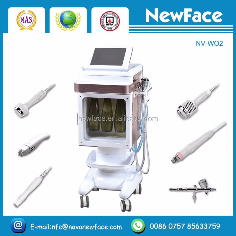 multifunction beauty machine NV-WO2 water jet facial machine/ Oxygen Water Jet Peel Machine For Salon Beauty