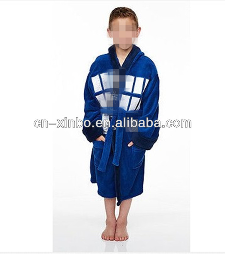Kids Boys Girls Unisex Fleece Dressing gown