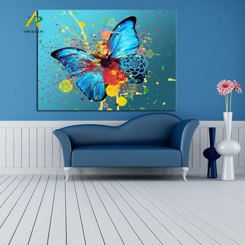 Supply For Eaby Digital Print Canvas Wall Art Abstract Butterfly Painting  For Home Decoration