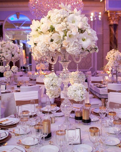 crystal candelabra wedding centerpiece