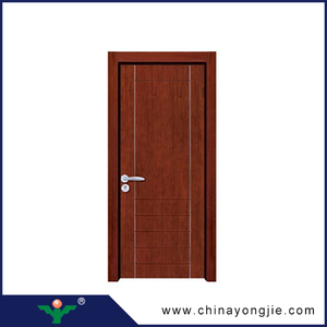 China zhejiang new design Swing knotted alder solid wooden door