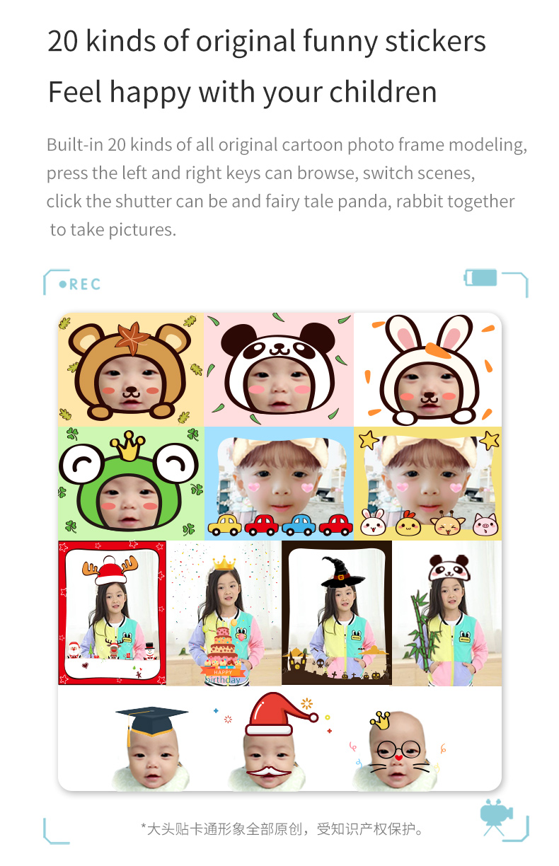 The latest fifth generation children's cartoon camera  2.2inch screen 8MP  digital camera children kids camera