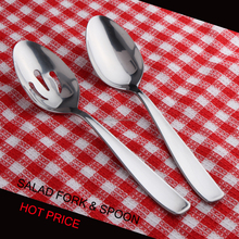 Salad spoon and service spoon and fork set in Black Friday price free sample