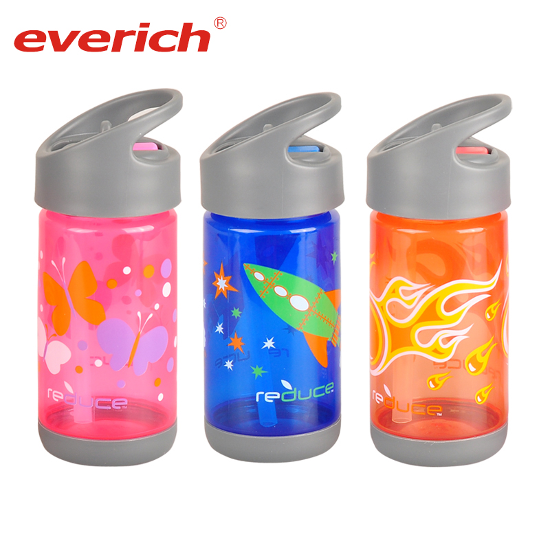 Everich Hot Sale New Products Private Label Plastic Sports Shaker Drinking Water Bottle With Straw