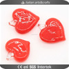 Lampwork glass red heart pendant charms wholesale for jewelry DIY making