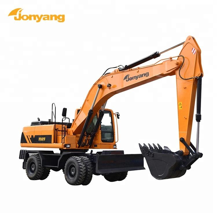 High performance 20t hydraulic wheel excavators