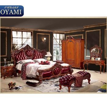 Arabic Style Wood Carving Italian Bedroom Sets Furniture - Buy ...