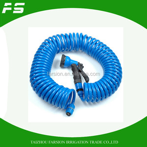50Ft Self Recoil Garden Water Hose Assembly With Adjustable Hose Nozzle
