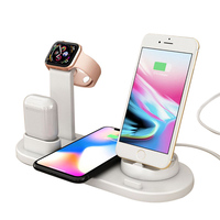 New Arrival 3 in 1 Docking Station Wireless Mobile Phone Charger For Apple Watch Stand With Dock for iPhone for Air Pods