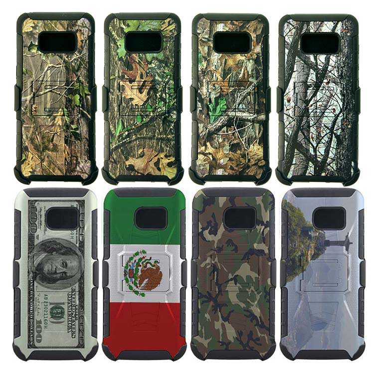 Printed holster combo case For Alcatel M4Tel Lanix Factory Price Shell