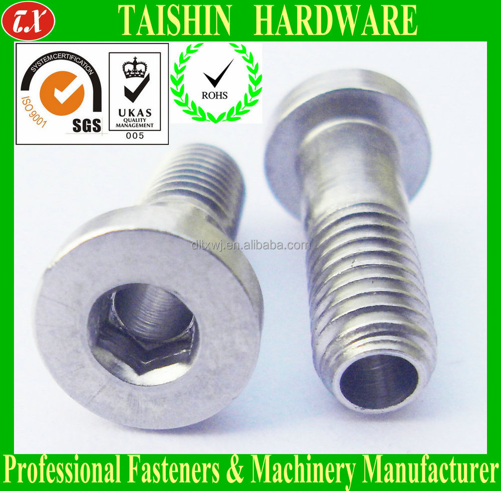 Stainless Steel Hex Socket Cap Head Through Hole Hollow