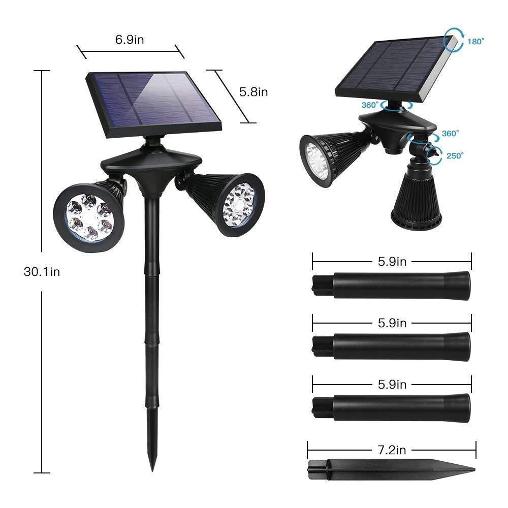 High Efficiency 12leds Double heads solar motion sensor lightings spot light