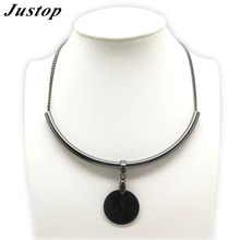 Imitation Jewellery Gun Metal Brass Chain for Fashion Metallic Short Necklace