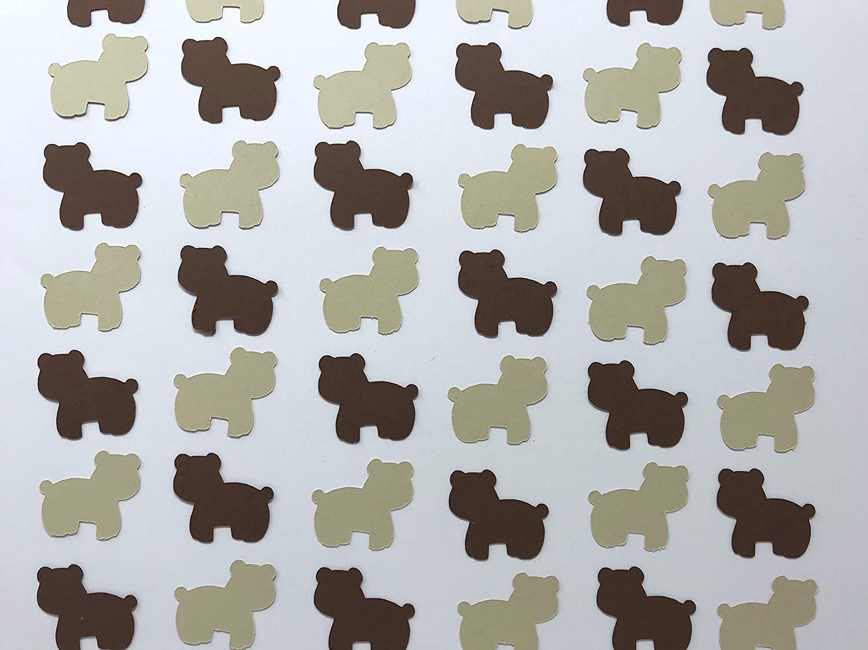 Brown Bear Confetti - Woodland Confetti - Woodland Baby Shower - Woodland Birthday Party - Woodland Creatures Decor - Bear Decorations - 200 pieces