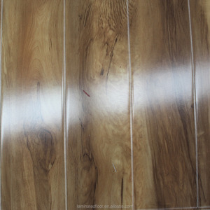 Gloss Distressed 8mm AC3 hdf laminte wood flooring click joint Lock