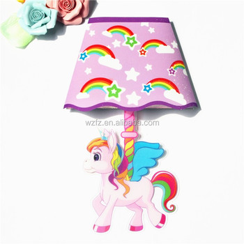 touch-activated led kids wall lamp sticker with little pegasus