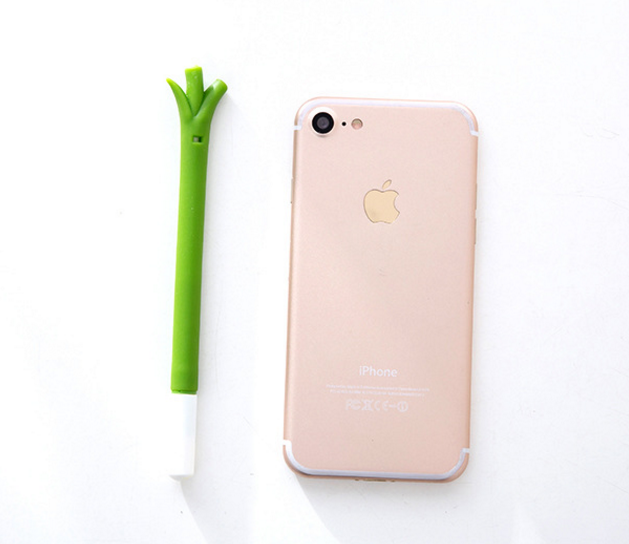 Green Soft Silicone Gel pen Cute Korean Creative Stationery Plastic Pen