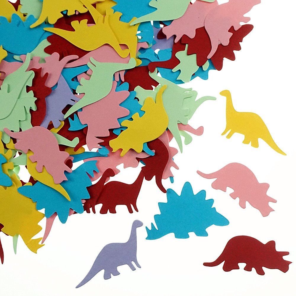 Shxstore Dinosaur Paper Confetti Dino Theme Shape Cutouts Confetti For Wedding Baby Shower Birthday Table Confetti Party Supplies