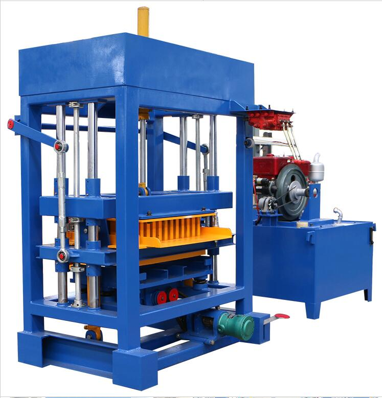 Qt4-40 Manual Diesel Engine Concrete Paver Block Making Machine Curb Machine Prices On Sale In India