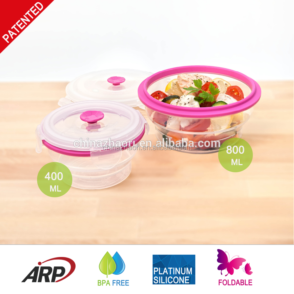 High quality collasible silicone Lunch Box