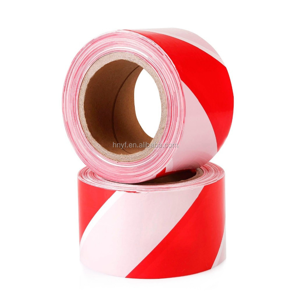 Bright Red and White Stripe Hazard Signal Warning Barrier Tape 7cm x200m non Adhesive