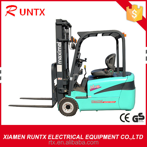 2000kg three wheels electric forklift