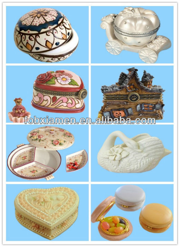 White ceramic high end trinket jewelry box for sale