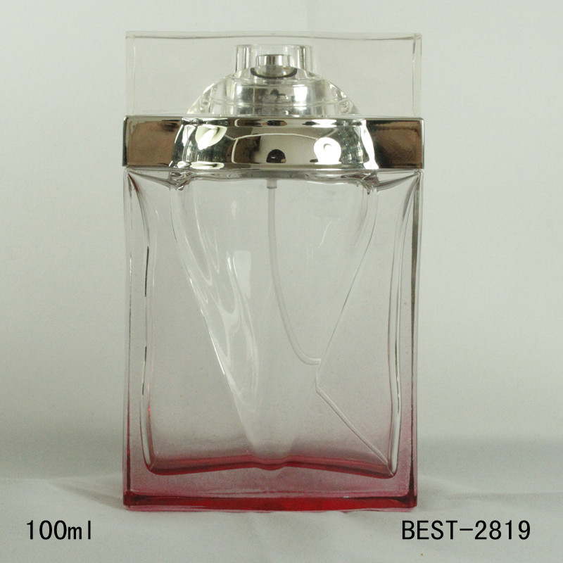 100ml square perfume glass spray bottle uk for cleaning