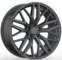 5 holes car aluminum alloy wheel rims black 19/20 inch spoke rims