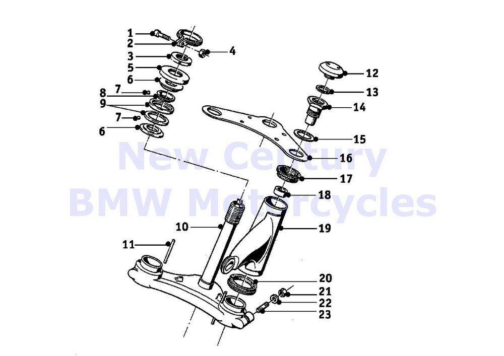 BMW Genuine Motorcycle Fork Bridge Rubber Ring R65 R80 R100R Mystik R100/7T R100/T R100CS R100S R60/6 R75/6 R90/6 R90S R60/7 R75/7 R80 R50/2 R60/2 R69S