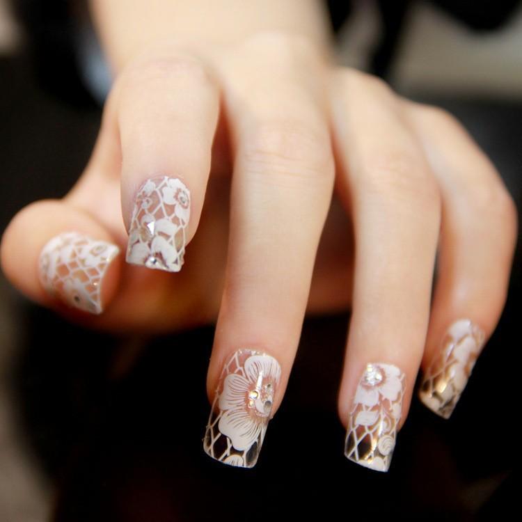 2014 New Designs Fashion Nail Ar Sticker Nail Accessories Press On ...