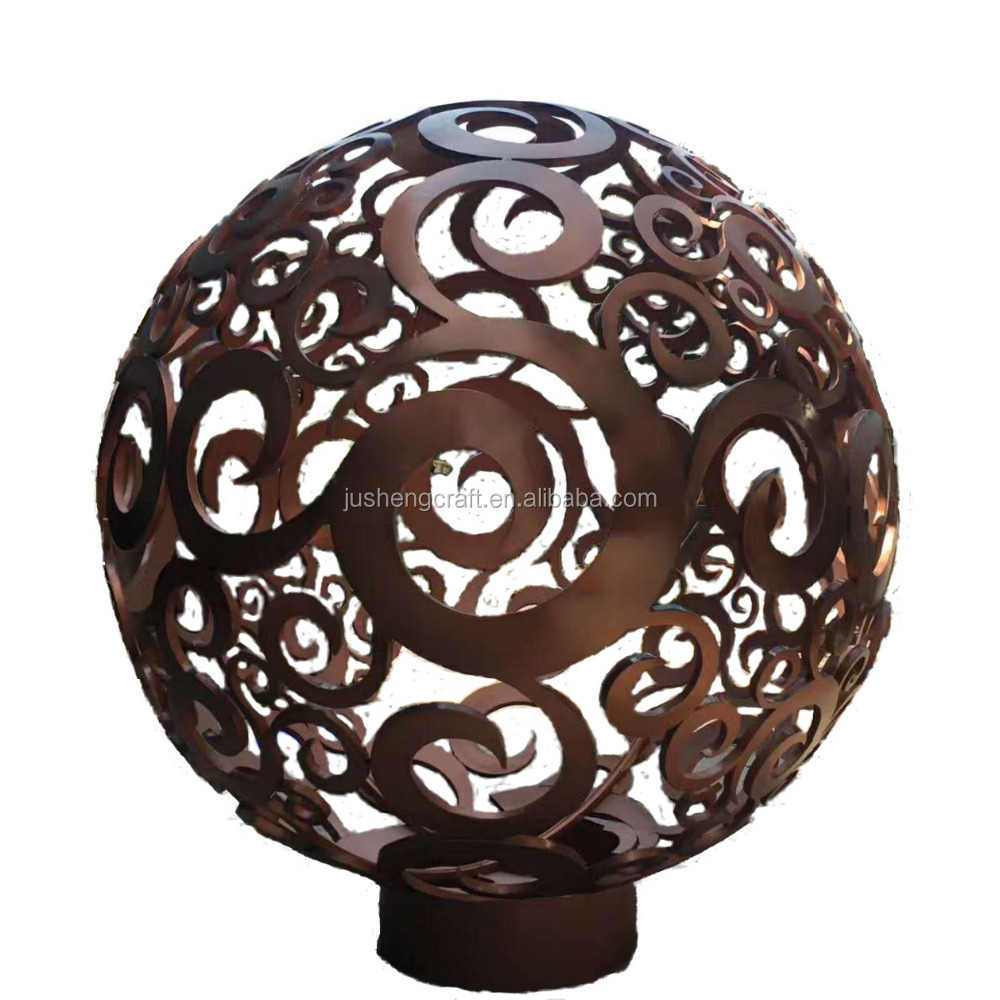 Ball Shape Plated Flowers on Painted with Car Paint Customer Color Welding the Cutting Pieces Together Metal Craft