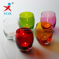 HIGH QUALITY BLOWN STAINED GLASS CANDLE HOLDERS