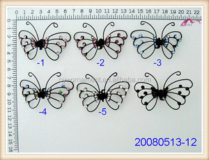 Fashion New Design Butterfly Styles Crystal Metal Jeweled Hair Claws