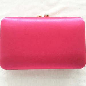 guangzhou handbag manufacturer oem pink satin evening bags wholesale clutch purses